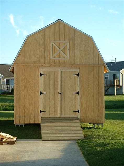 barn style shed plans    build  shed ramp