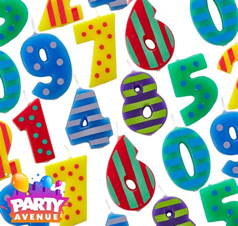 Dots Number Candle dots stripes number candles birthday cake