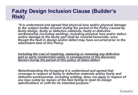 design flaw definition defect exclusions