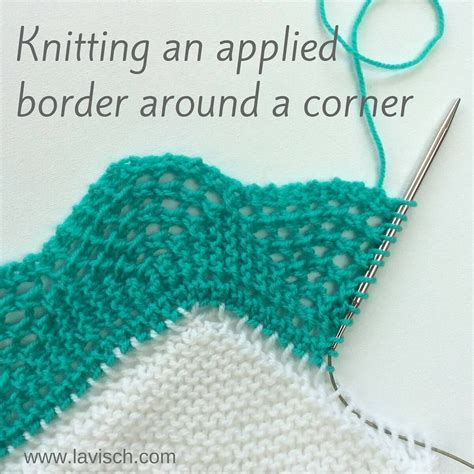 knitting shawl tutorial knitting on borders around the corner a tutorial by la