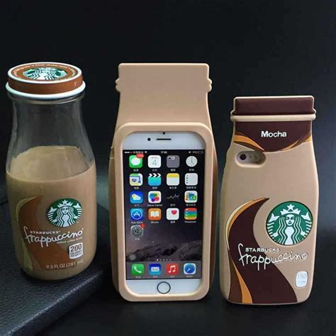 Fashion Jelly Frappucino Starbucks Iphone 6 Dan 6 Plus fashion 3d starbuck mocha frappuccino bottle coffee cup silicone for iphone 4 4s 5 5s 6 6
