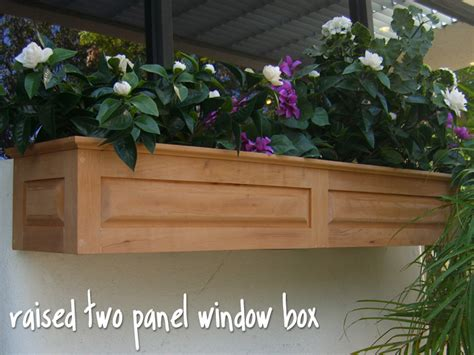 wooden window box planters raised one two panel window box wooden window boxes