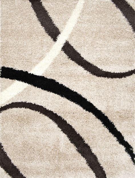 Modern Shag Area Rugs by Modern Shag Abstract Area Rug 5x7 Flokati