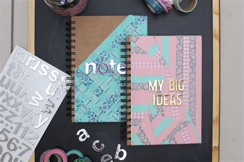 2 ways to decorate notebook covers with duck washi