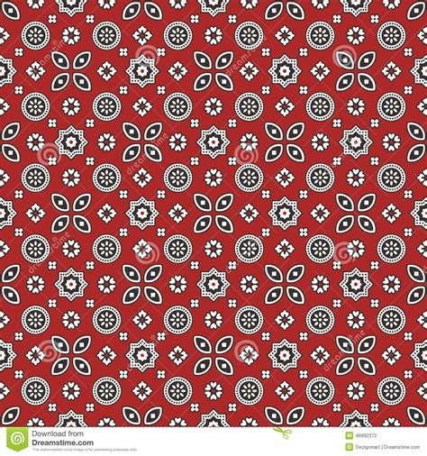 designs pictures sindhi red ajrak pattern stock vector image 46992372