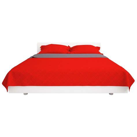 copriletto rosso vidaxl copriletto trapuntato doppia faccia rosso e grigio