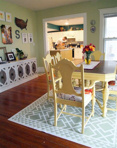 diy bedroom rug diy dining room area rug painted linoleum reality daydream