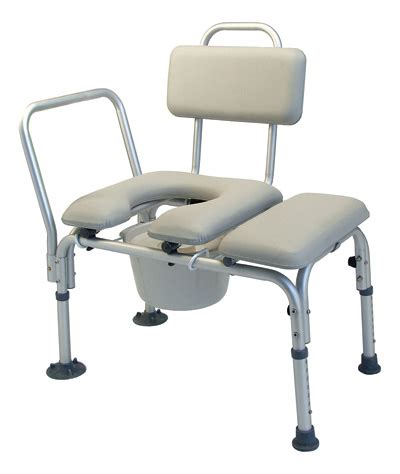 padded shower transfer bench lumex platinum collection deluxe padded commode transfer