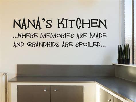 nana  kitchen wall art sticker vinyl transfer modern