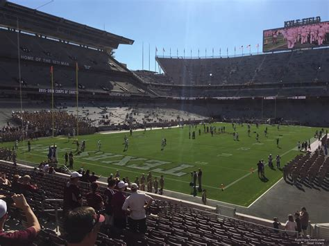 Kyle Field Visitor Section by Kyle Field Section 115 Rateyourseats