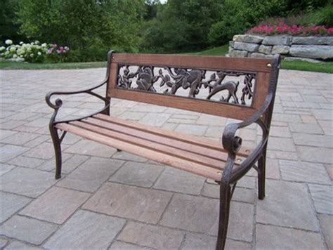 wrought iron wood bench oakland living animals wrought iron wood arm bench child size traditional