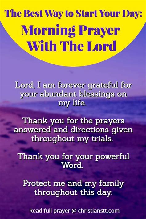 What A Way To Start A Day by The Best Way To Start Your Day Morning Prayer With The
