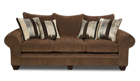 chocolate loveseat chocolate fabric casual modern loveseat sofa set w options