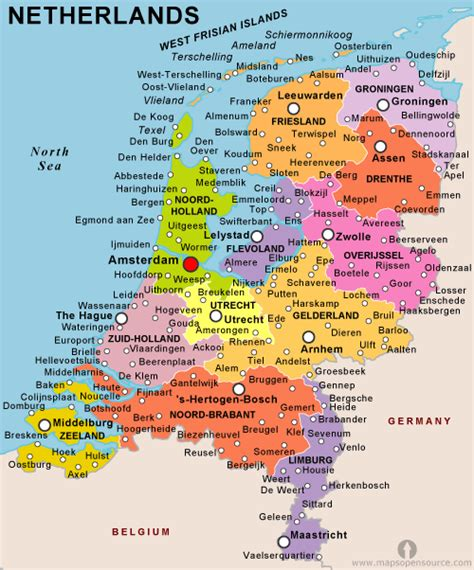 netherlands map facts netherlands country profile free maps of netherlands