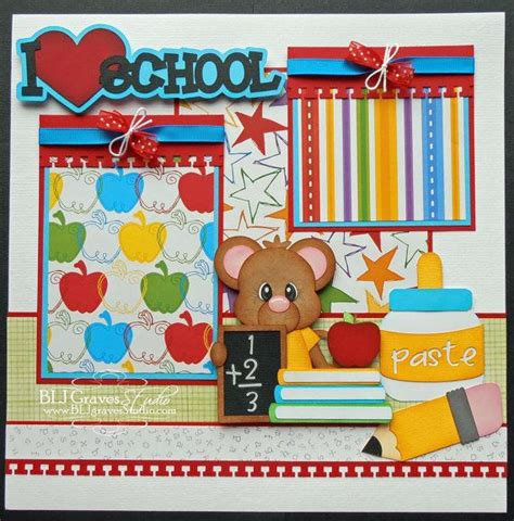 scrapbook layout for school picture 384 best scrapbook layouts school days images on