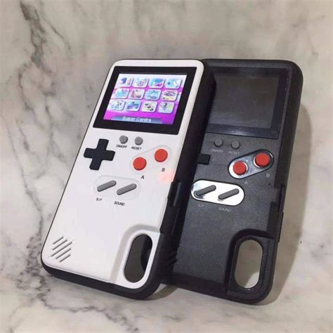 playable retro gameboy iphone case full color bopspot