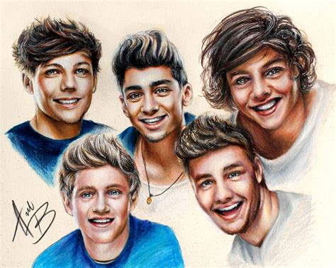 one direction painting one direction by babydollb on deviantart