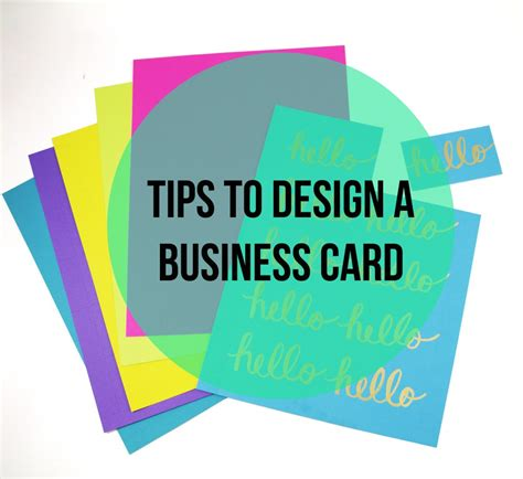 tips for business cards tips to design a business card