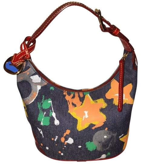 dooney bourke multi color splash paint handbag navy