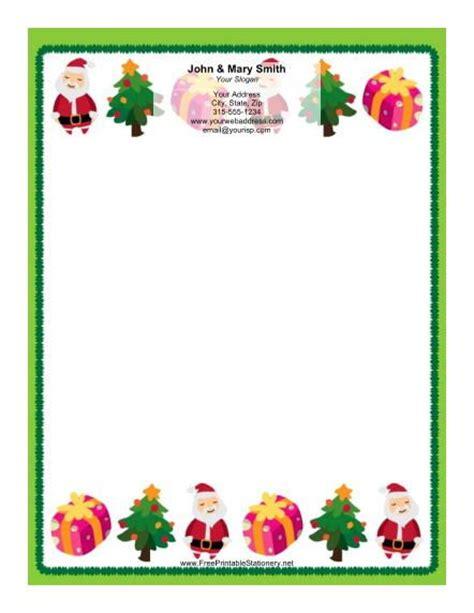 printable christmas borders download this stationery