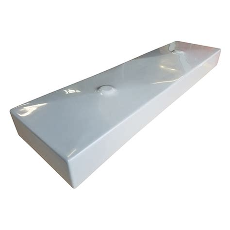 mold in drain 48 quot rectangle dual drain trough mold