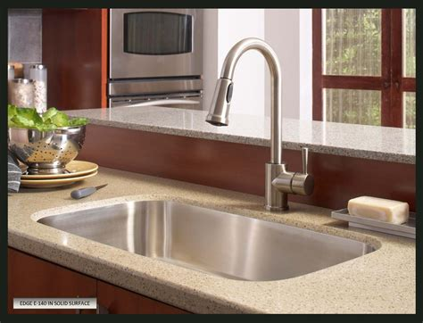 quartz countertop with undermount sink stainless sink in a corian countertop search