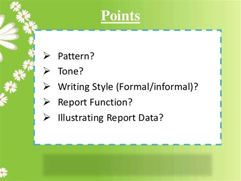 pattern report writing report writing pattern