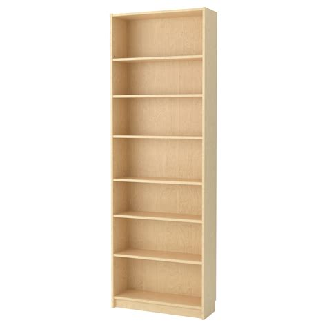 billy bookcase birch veneer 80x237x28 cm ikea