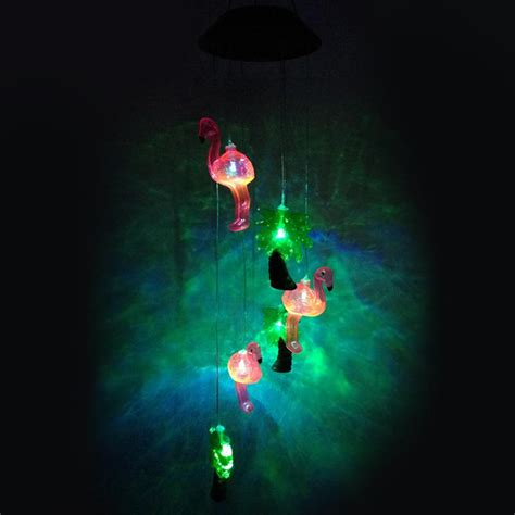 lumiparty solar led light wind chimes color changing