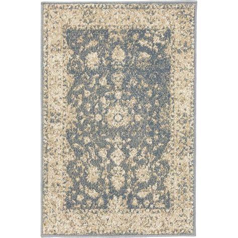 scatter rug home decorators collection treasures blue 2 ft x 3 ft scatter rug 25141 the home depot