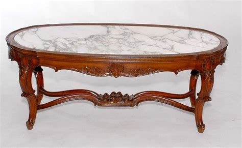 provincial coffee tables 425 provincial marble top coffee table lot 425