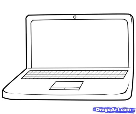 how to draw on computer how to draw a laptop step by step stuff pop culture