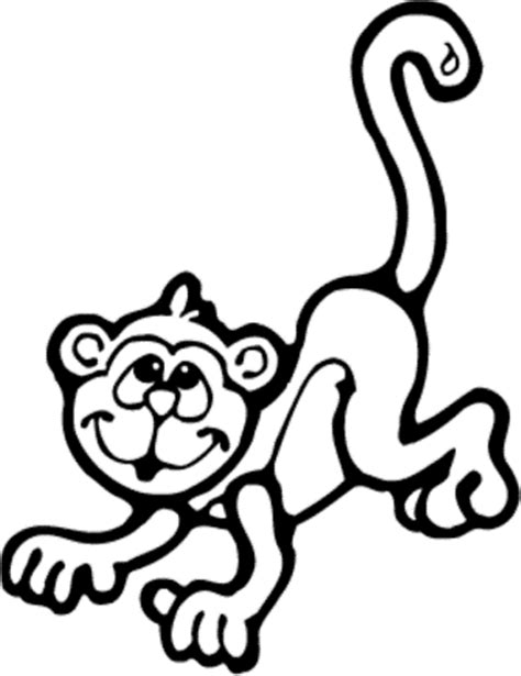 monkey coloring pages kids world