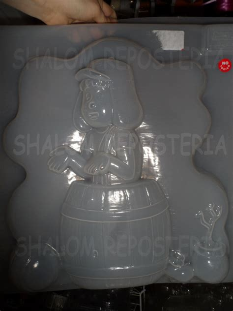 moldes para gelatinas del chavo del 8 molde jumbo para gelatina chavo del 8 y su barril