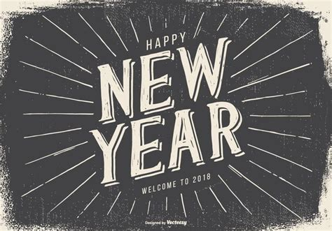 new year 2018 sales vintage style happy new year 2018 illustration