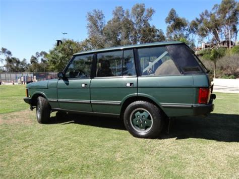 sell used 1993 land rover range rover lwb mosswood green 157k air suspension calif car in san sell used 1993 land rover range rover county lwb sport utility 4 door 4 2l in san diego