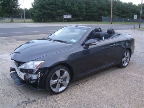 lexus convertible 2010 wrecked 2010 lexus is is350 convertible rebuildable for sale