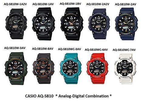 Jam Tangan Casio Original Aq S810 W 1a2v L Garansi Resmi 1 Tahun casio aq s810w original genuine authentic end 5 5