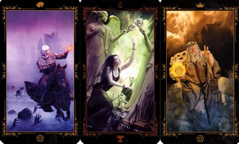 dark fairytale tarot 78 78 whispers in my ear daily draw knight of pentacles six of cups king of pentacles