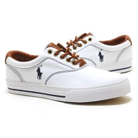 ralph polo mens shoes vaughn white canvas ebay