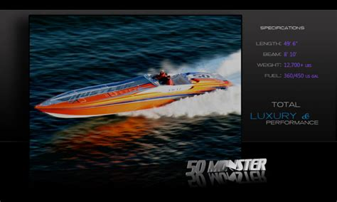hustler powerboats home speed boat research 2011 hustler powerboats 50 monster on iboats com