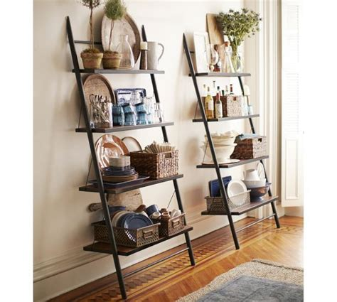 Pottery Barn Leaning Bookcase leaning bookcase pottery barn for the home