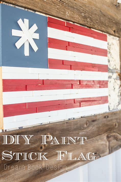 home depot 4th of july paint rebate diy paint stick american flag craft book design