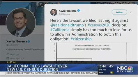 Files Lawsuit by California Sues Citizenship Question On 2020 Census