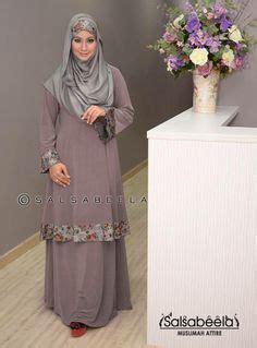 Gamis Muslim Dress Laudya Dress Laudya Dress Grey malaysian new modern dress baju kurung pahang my