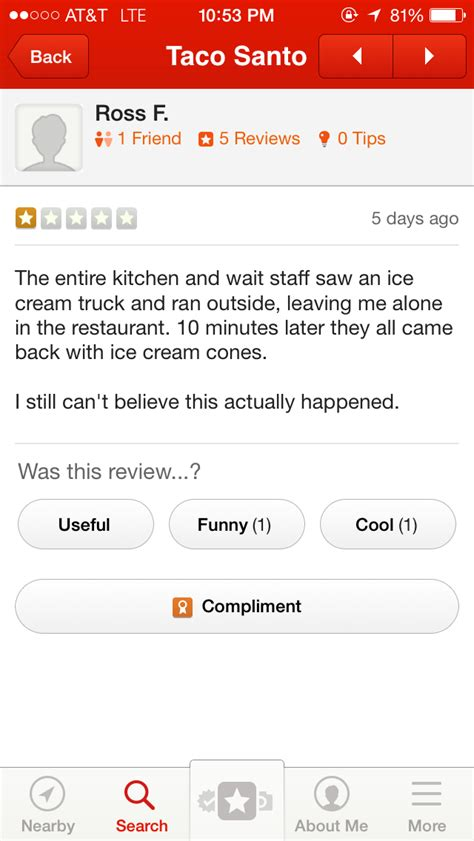 a for all time review 16 greatest yelp reviews of all time gallery