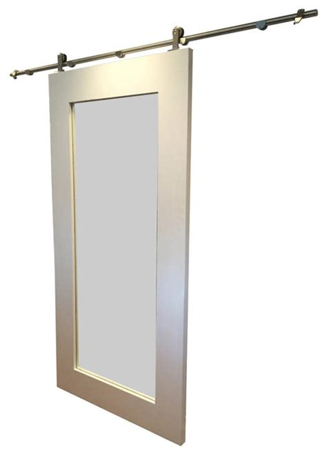 contemporary interior sliding doors shop houzz rustic luxe boutique modern mirror framed