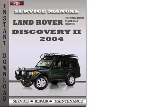 auto repair manual free download 2004 land rover freelander transmission control land rover discovery 2 2004 factory service manual download downl