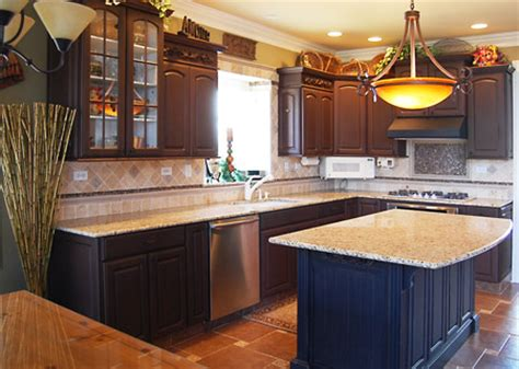 Redoing Kitchen Cabinets Yourself | kitchen cabinets after refinishing