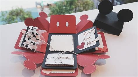 carding tutorial italiano mickey mouse exploding box card quick tutorial collab